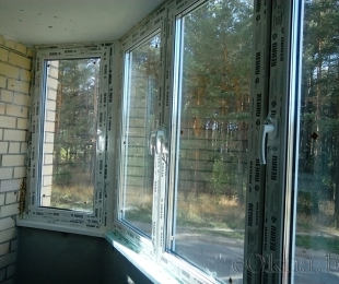 Балконная рама из ПВХ. Марьина Горка. №4