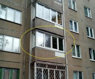 Балконная рама из ПВХ. Марьина Горка. №2
