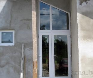 Двери ПВХ входные. №2