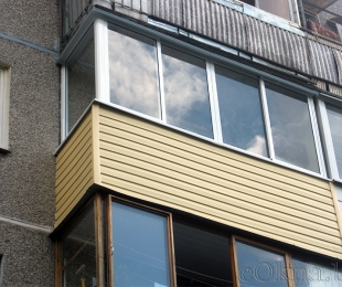 Балконная рама из алюминия. Марьина Горка. №1