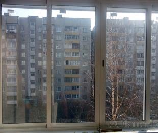 Балконная рама из алюминия. Марьина Горка. №2